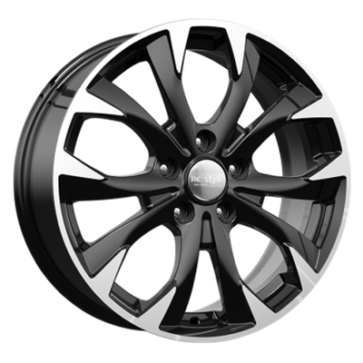 KIK KC740 Black Polished, 17x70 ET50